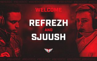 Heroic welcomes Refrezh and Sjuush to its CS:GO roster